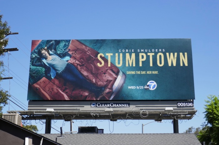 Stumptown series launch billboard