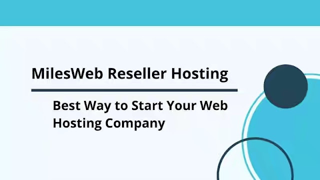 Start Your Web Hosting Company with MilesWeb Reseller Hosting