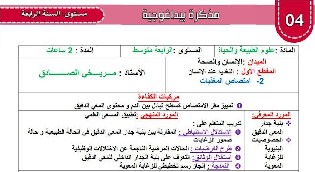 مذكرة امتصاص المغذيات للاستاذ صادق مريخي