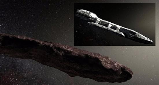 Asteroide 'Oumuamua nave alien