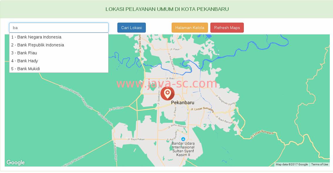google maps menggunakan php dan mysql