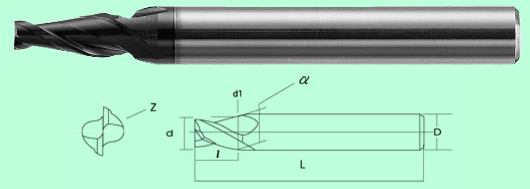 Dao phay ngón dạng côn ( Tapered Type End Mill )