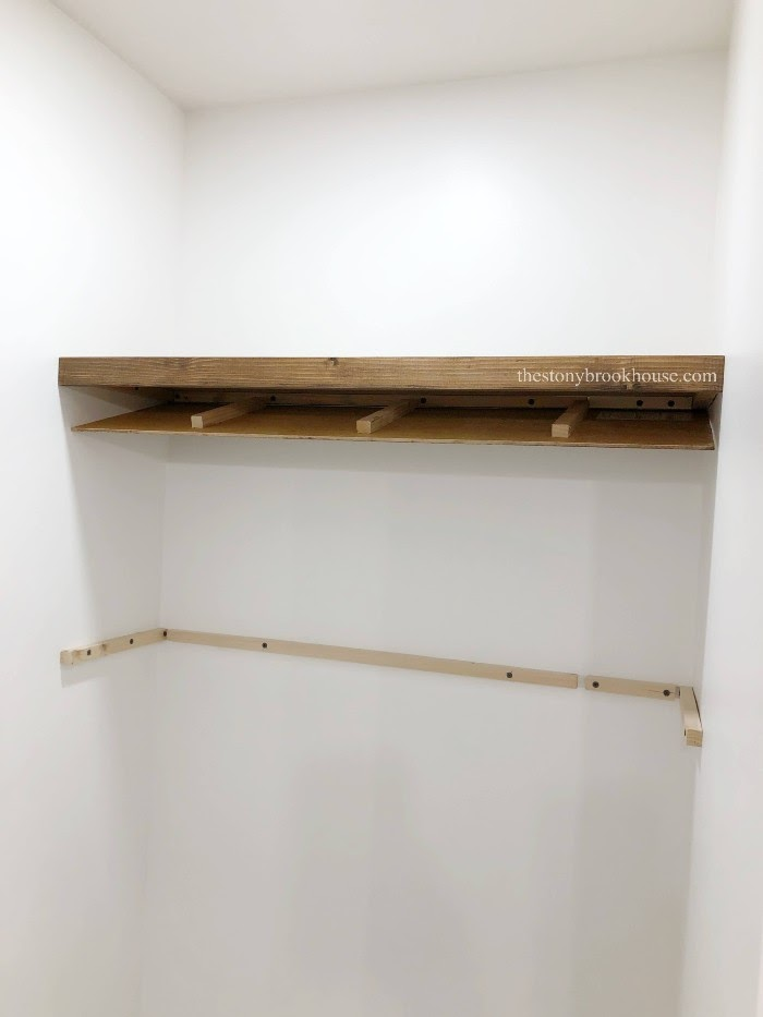 Installing wall to wall floating shelves