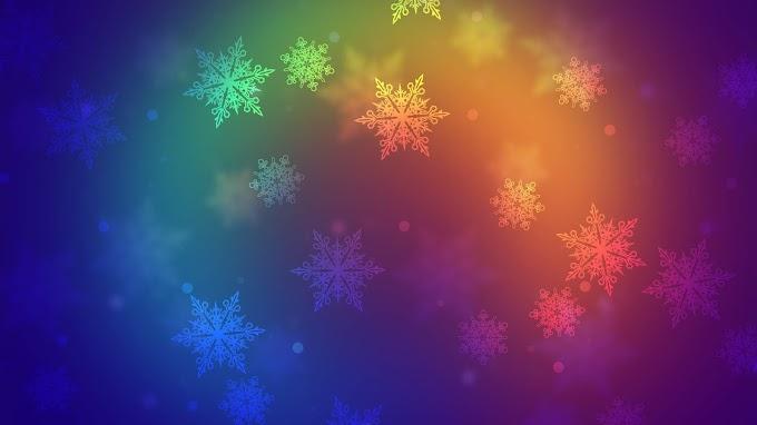 Papel de Parede Abstrato Floco de Neve