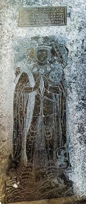 Latón monumental a Thomas Bolena, Iglesia de San Pedro, Hever