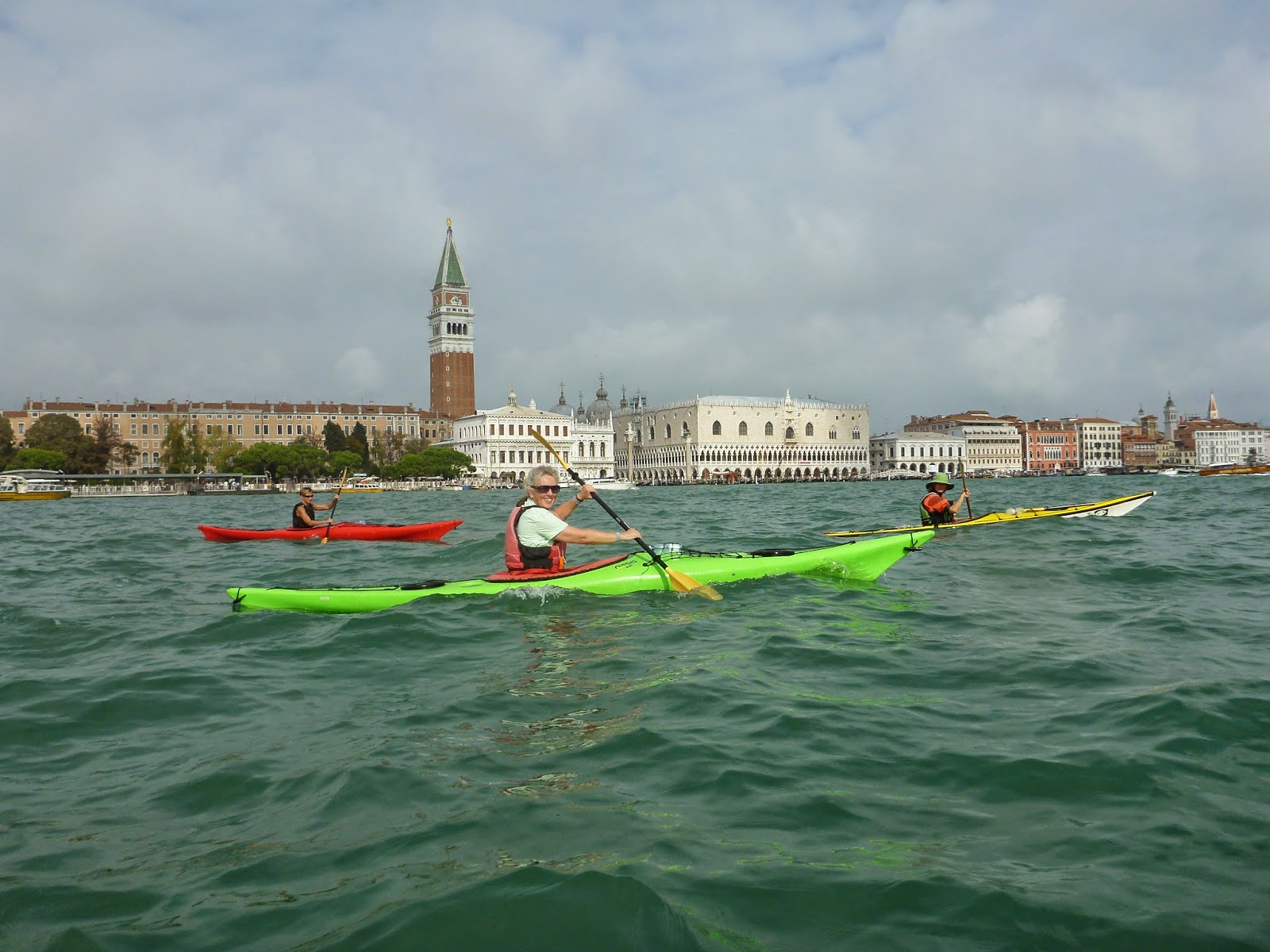 Kayaking in Venice.Photograph of Janie Robinson, Travel Writer