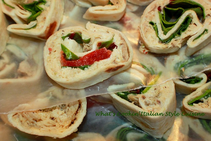 these are mini tortilla appetizer filled with deli meats and cream cheese
