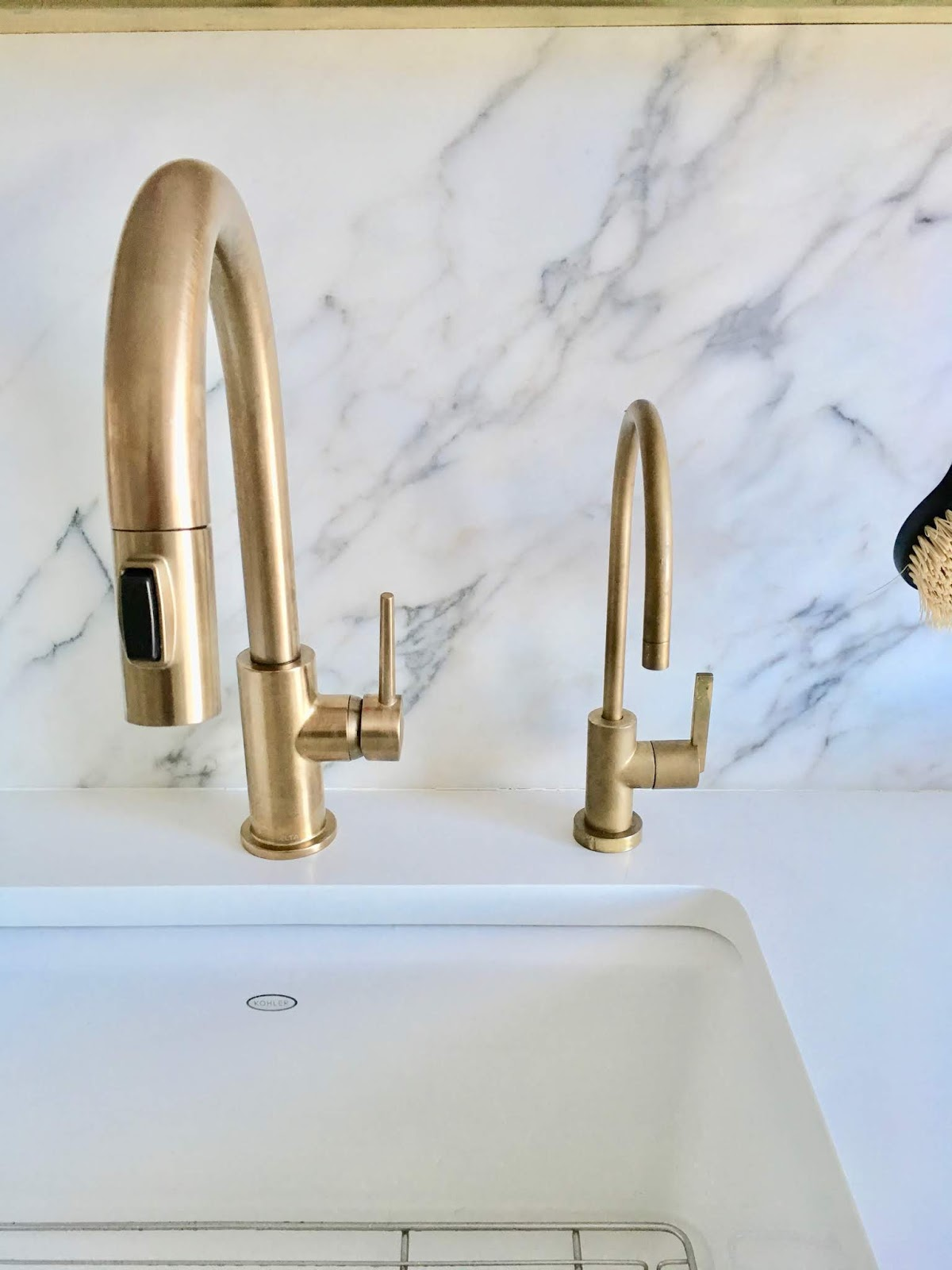 Renov8or Spray Painted Kitchen Sink Faucet One Year Later