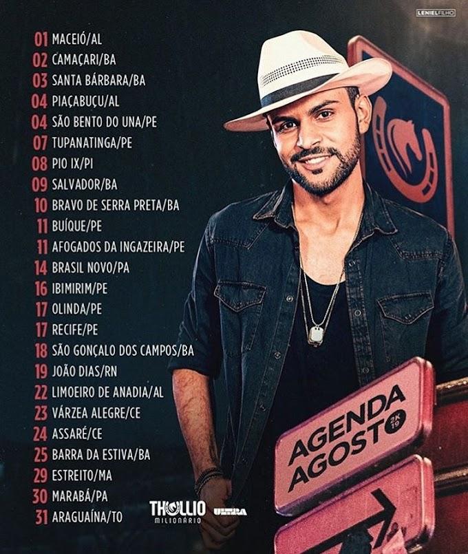 Agenda de Thullio Milionário  - Agosto 2019
