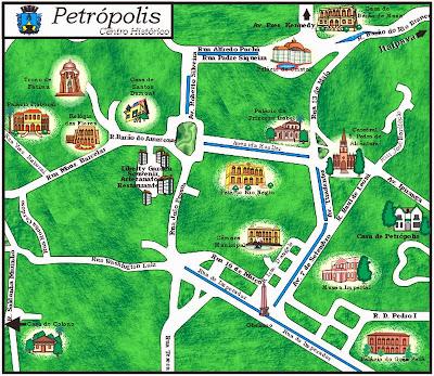 Mapa do Centro Histórico de Petrópolis