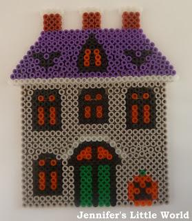 Halloween Hama bead house