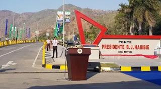 Menteri PUPR Hadiri Peresmian Jembatan BJ Habibie (Ponte Presidente BJ Habibie) Di Timor Leste