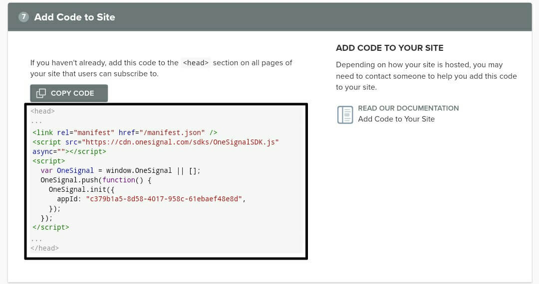 Copy to code