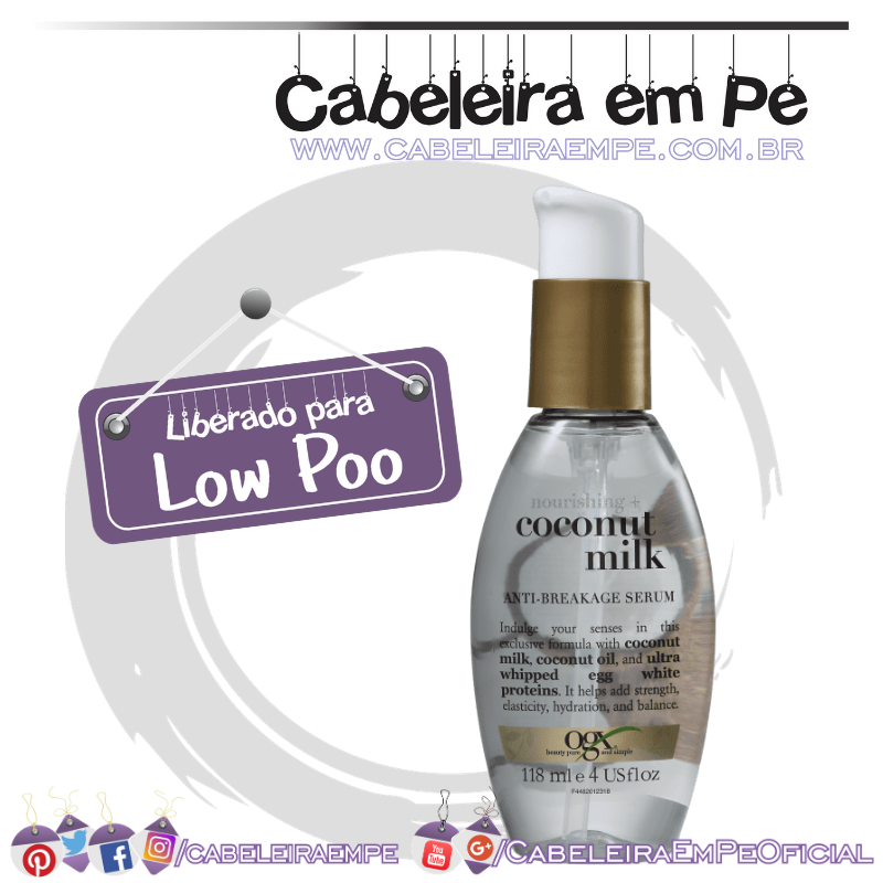 Serum Anti-breakage Nourishing Coconut Milk - OGX (Low Poo)