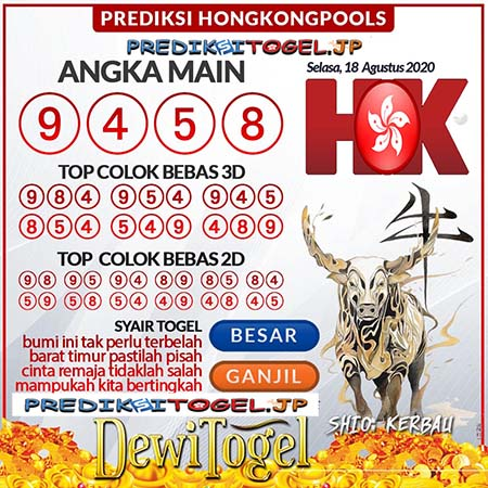 Prediksi Togel WAP Hongkong Selasa 18 Agustus 2020