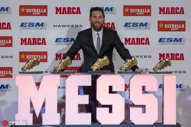 Messi is ready To Receive His Sixth European Golden Shoe On October 16