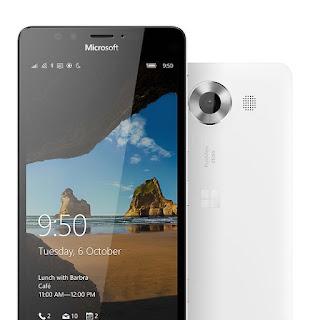DESAIN LAYAR dan harga Microsoft Lumia 950