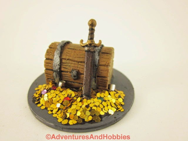 Treasure hoard Fantasy war game terrain and scenery - UniversalTerrain.com