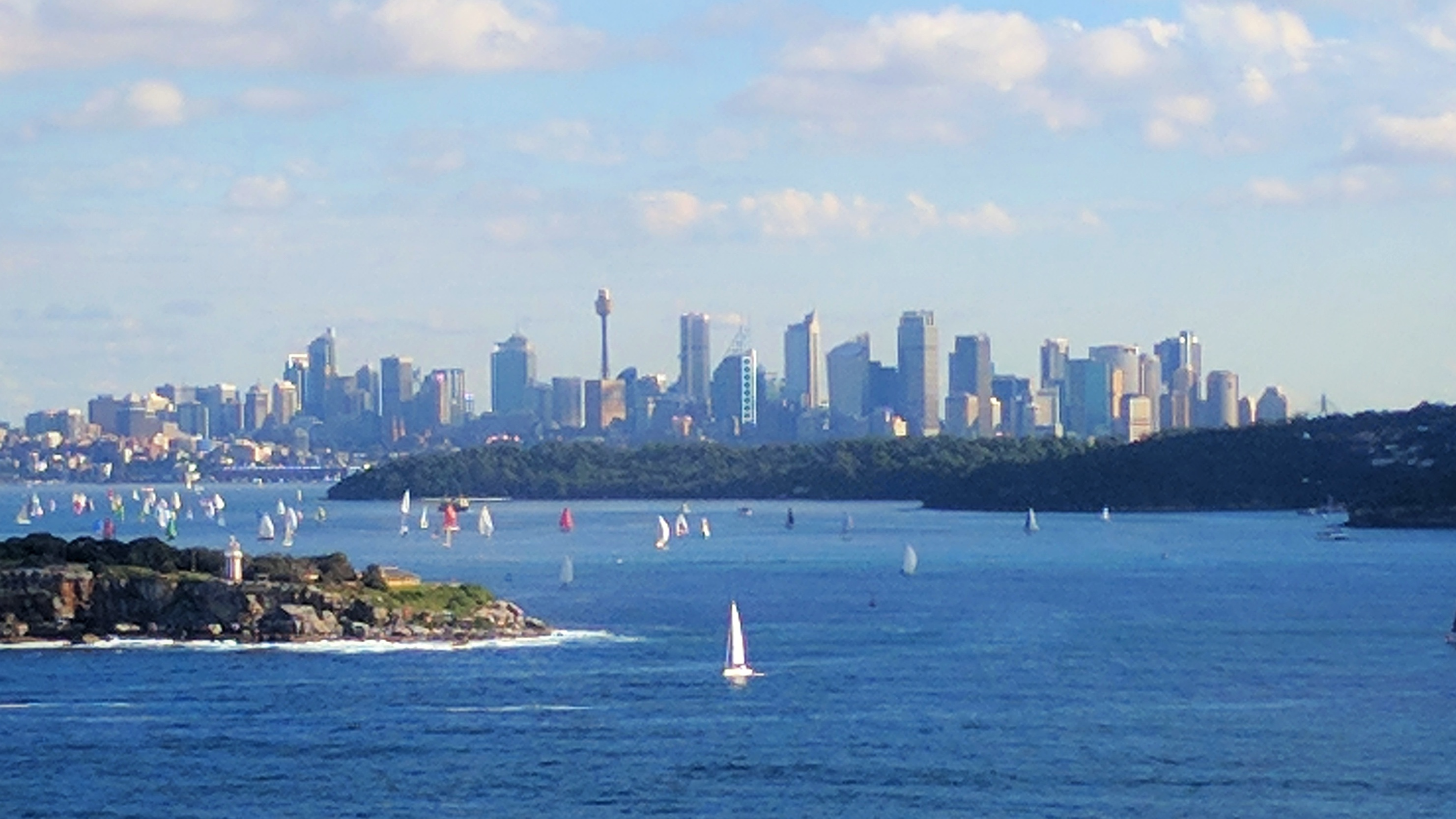Sydney City from the North  Head