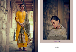 Varsha Fashion Katha Vol 2 Kora Silk Salwar Suit in Wholesale