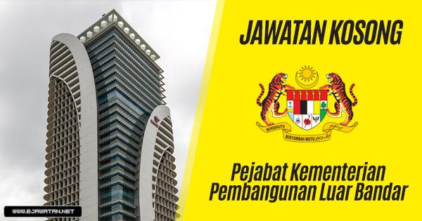 jawatan kosong Pejabat Kementerian Pembangunan Luar Bandar 2019