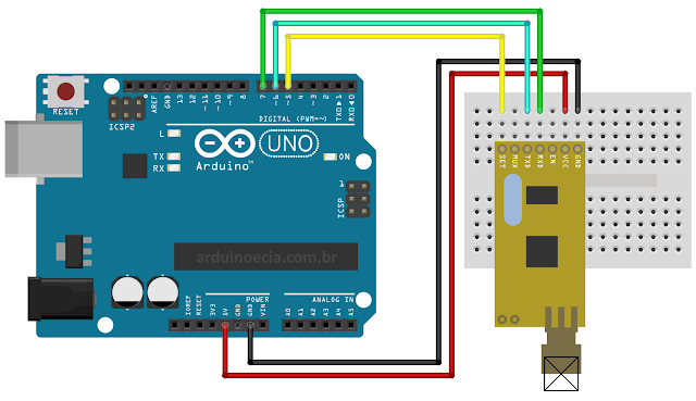 Circuito Arduino e módulo APC220