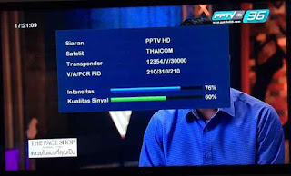 Cara Tracking Thaicom Ku-Band Dish 100cm Lock PPTV HD