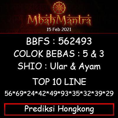 Prediksi Angka Hongkong 15 Februari 2021