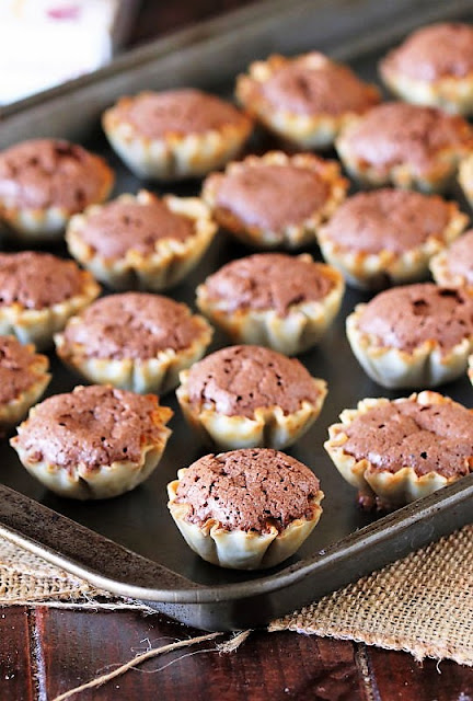 Baked Chocolate Chess Pie Tarts Image