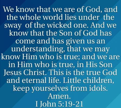 1 john 5 19-21