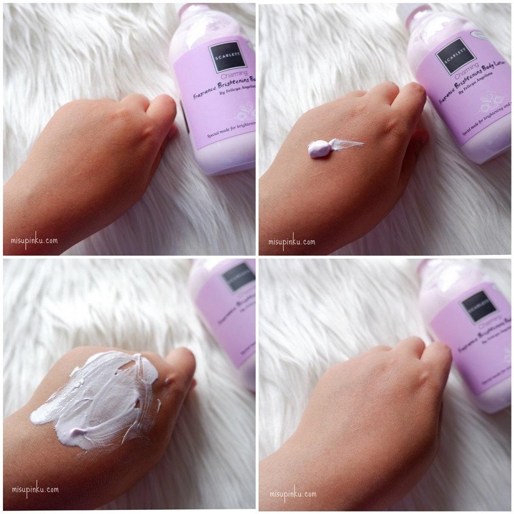 scarlett whitening body lotion