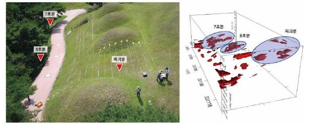 41 Baekje-era tumuli found near South Korea's Gongju city