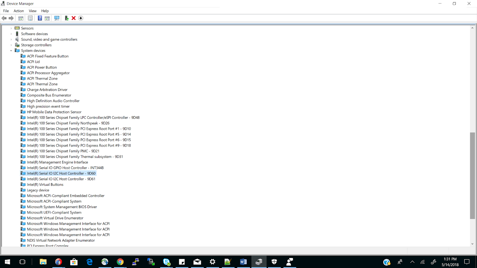 TouchScreen not working in Hp laptop Windows 10 version- 12C