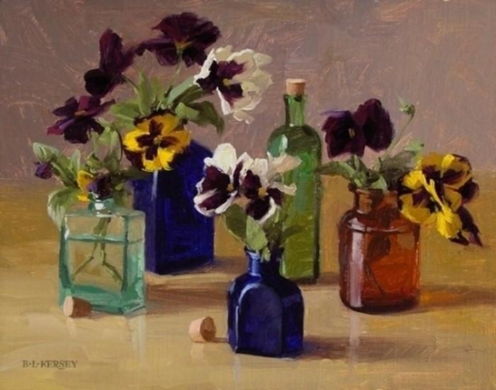 Рисунки цветов. Laurie Kersey 23