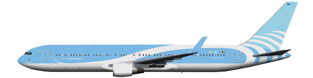 kaese2002.de: TUI Airlines Belgium Boeing 767-300 winglets