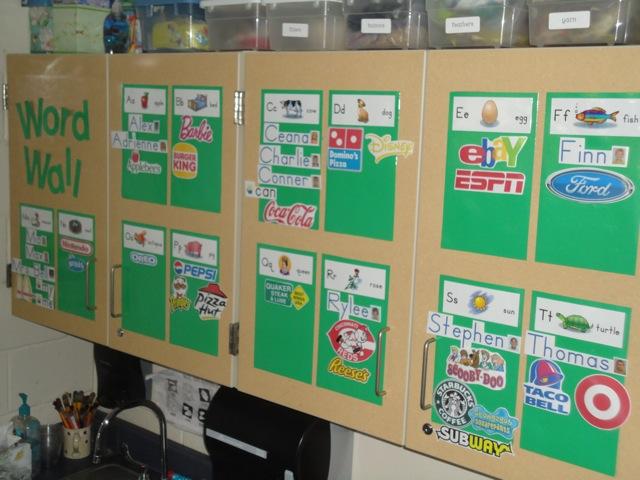 Environmental print logos for  word wall also place called kindergarten party rh aplacecalledkindergarten