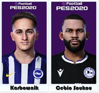 PES 2021 Faces Michał Karbownik & Cebio Soukou by Shaft