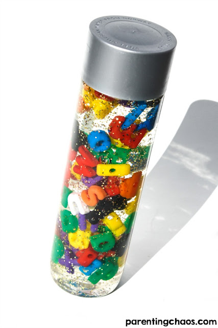 abc sensory bottles toddlers
