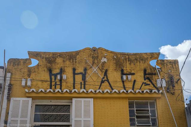Sobrado na Rua Marechal Deodoro - detalhe da platibanda