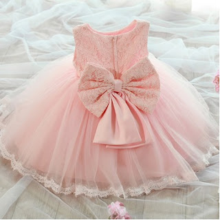 Big Bow Toddler Girls Kids Formal Lace Princess Dresses Ball Gown