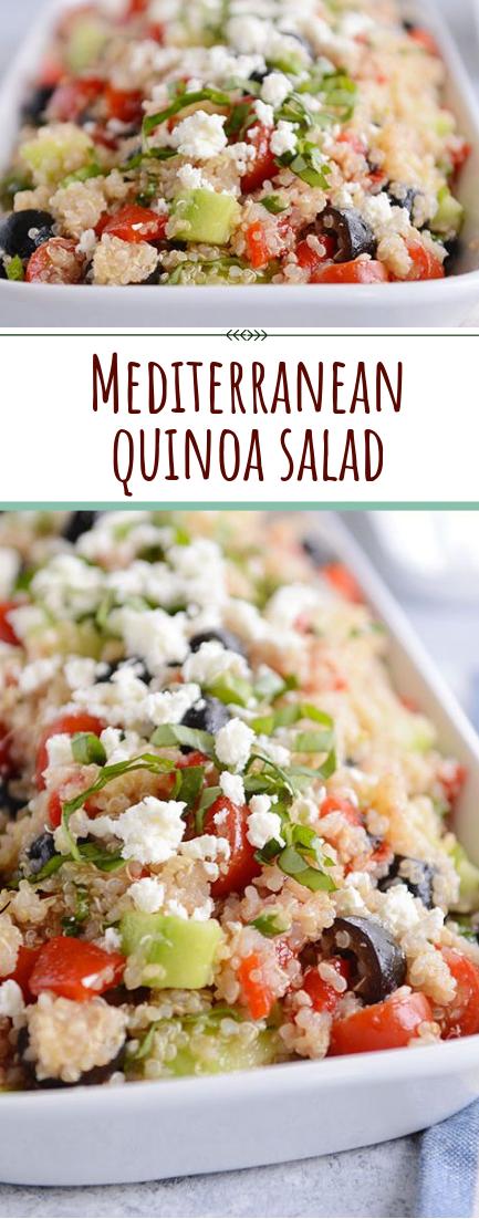 Mediterranean quinoa salad #Vegetaria #saladEasy