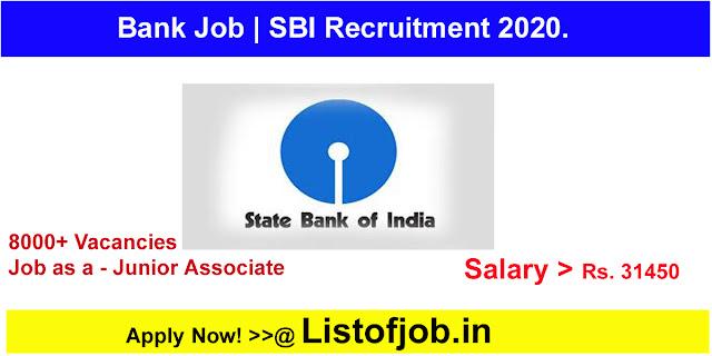 SBI Recruitment 2020.