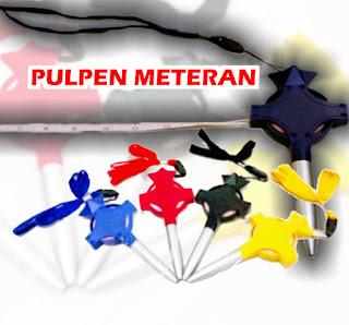 Jual Souvenir pen meteran / pulpen meteran