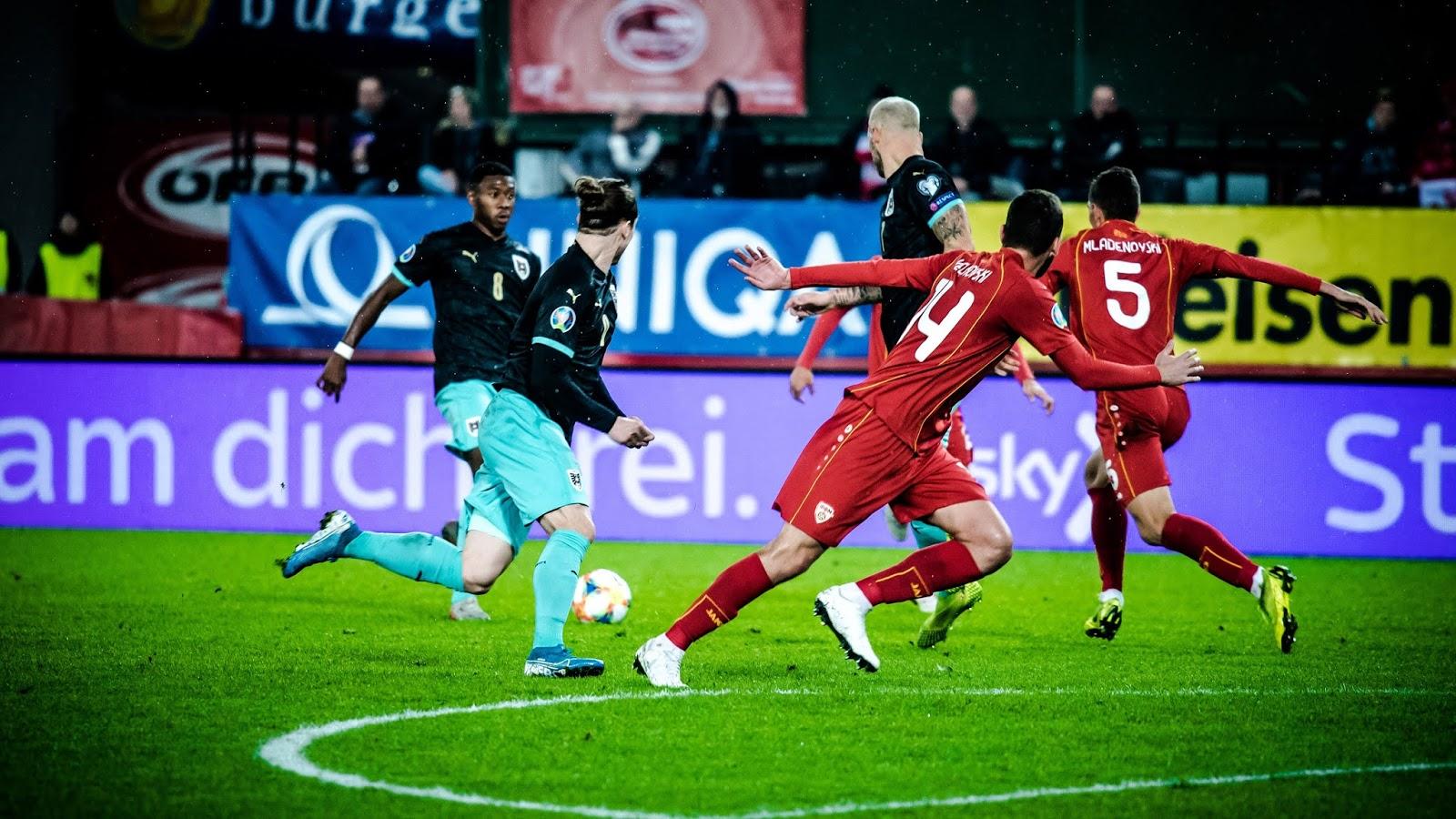 تقرير مباراة مقدونيا الشمالية والنمسا