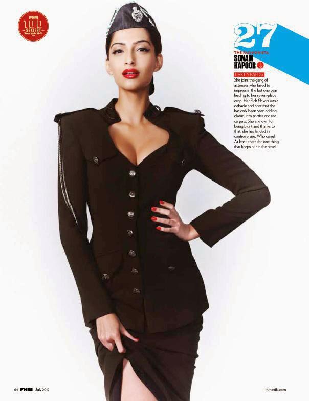 Sonam Kapoor on FHM Magazine Cover