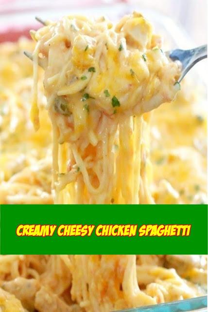 #Creamy #Cheesy #Chicken #Spaghetti