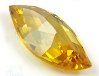 Leaf_shaped_Golden_Yellow_Checker_CZ_Stones_China_Wholesale