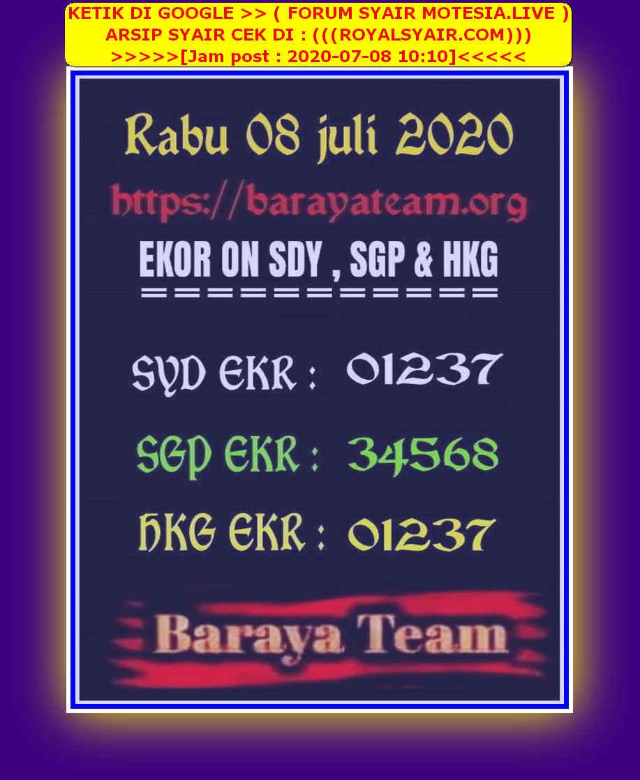 Kode syair Sydney Rabu 8 Juli 2020 172