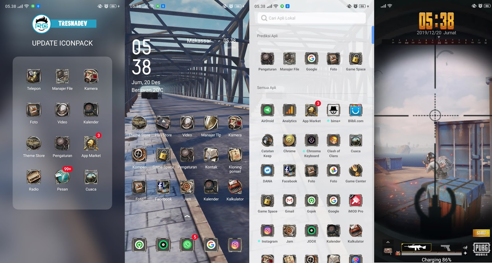 Themes PUBG Mobile Premium for OPPO & Realme