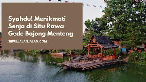 Syahdu! Menikmati Senja di Situ Rawa Gede Bojong Menteng